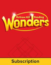 Reading Wonders, Grade 1, Comprehensive Program 6 Year Subscription