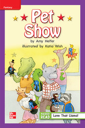 Reading Wonders Leveled Reader Pet Show: ELL Unit 1 Week 3 Grade 1