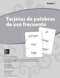 Lectura Maravillas, Grade 1, High Frequency Word Cards