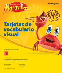 Lectura Maravillas, Grade K, Visual Vocabulary Cards