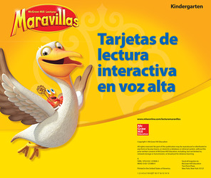 Lectura Maravillas, Grade K, Interactive Read-Aloud Cards