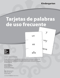 Lectura Maravillas, Grade K, High-Frequency Word Cards