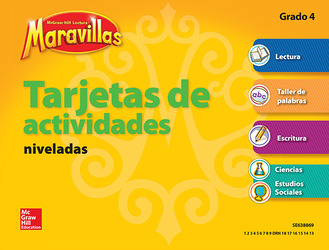 Lectura Maravillas, Grade 4, Workstation Activity Cards Package, (4 Cards)