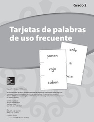 Lectura Maravillas, Grade 2, High-Frequency Word Cards