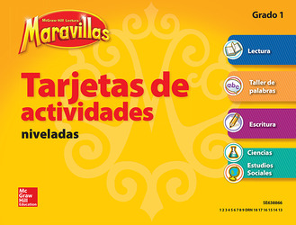 Lectura Maravillas, Grade 1, Workstation Activity Cards Package (4 Cards)