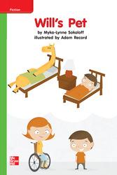 Reading Wonders, Grade K, Leveled Reader Will's Pet, Beyond, Unit 7, 6-Pack