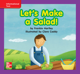 Reading Wonders, Grade K, Leveled Reader Let's Make a Salad!, ELL, Unit 5, 6-Pack