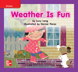 Reading Wonders, Grade K, Leveled Reader Weather Is Fun, On Level, Unit 6, 6-Pack