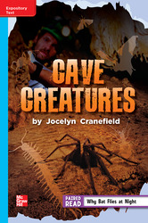 Reading Wonders, Grade 5, Leveled Reader Cave Creatures, On Level, Unit 6, 6-Pack