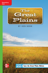 Reading Wonders, Grade 5, Leveled Reader The Great Plains, On Level, Unit 5, 6-Pack