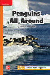 Reading Wonders, Grade 1, Leveled Reader Penguins All Around, Approaching, Unit 4, 6-Pack