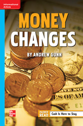 Reading Wonders, Grade 6, Leveled Reader Money Changes, Approaching, Unit 1, 6-Pack