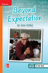 Reading Wonders, Grade 6, Leveled Reader Beyond Expectation, ELL, Unit 3, 6-Pack
