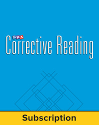 Corrective Reading Decoding (Grades 3-12), Online Student Subscription, 1 Year