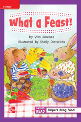 Reading Wonders, Grade 1, Leveled Reader What a Feast!, On Level, Unit 6, 6-Pack