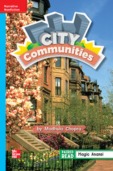 Reading Wonders, Grade 2, Leveled Reader City Communities, Approaching, Unit 3, 6-Pack