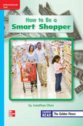 Reading Wonders, Grade 2, Leveled Reader How to Be a Smart Shopper, Approaching, Unit 6, 6-Pack