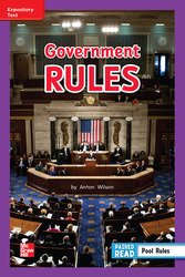 Reading Wonders, Grade 2, Leveled Reader Government Rules, Approaching, Unit 5, 6-Pack