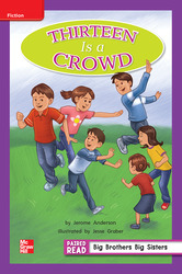 Reading Wonders, Grade 2, Leveled Reader Thirteen is a Crowd, On Level, Unit 5, 6-Pack