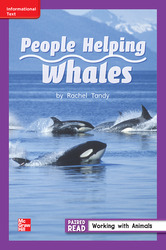 Reading Wonders, Grade 2, Leveled Reader People Helping Whales, On Level, Unit 1, 6-Pack
