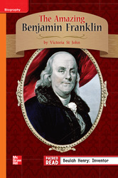 Reading Wonders, Grade 3, Leveled Reader The Amazing Benjamin Franklin, On Level, Unit 1, 6-Pack