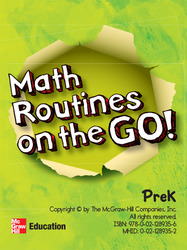 McGraw-Hill My Math, Grade PK, Math Routines on the Go