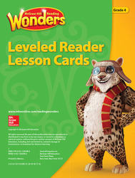 Reading Wonders Leveled Reader Lesson Cards Grade 4