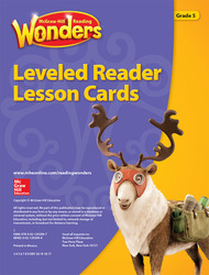 Reading Wonders Leveled Reader Lesson Cards Grade 5
