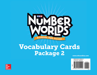 Number Worlds Levels F-J, Vocabulary Cards