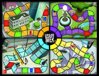 Number Worlds, Urban Trek Board Game