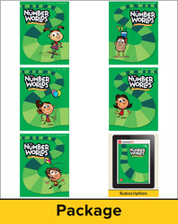 Number Worlds Level D, Student Materials Bundle (5 students, 1-year)