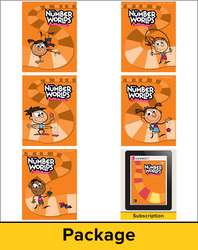 Number Worlds Level E, Student Materials Bundle (5 students, 1-year)