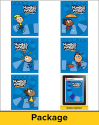 Number Worlds Level F, Student Materials Bundle (5 students. 1-year)