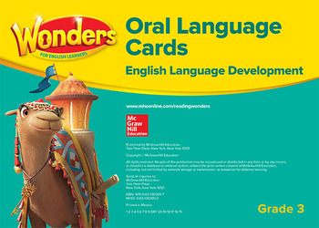 Wonders for English Learners G3 Oral Language Cards