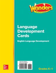 Wonders for English Learners GK-1 Language Development Cards