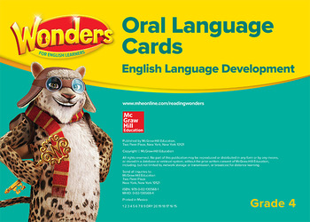 Wonders for English Learners G4 Oral Language Cards