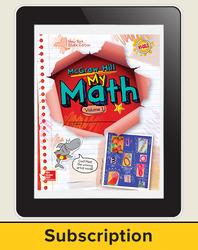 CUS New York My Math Grade 1  Teacher Online Edition 1 year subscription