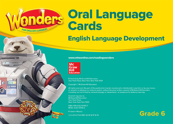 Wonders for English Learners G6 Oral Language Cards
