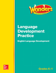 Wonders for English GK-1 Learners Language Development Practice BLM
