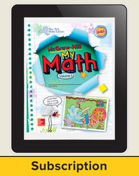 CUS New York My Math Grade 2 Student Online Edition 1 year subscription