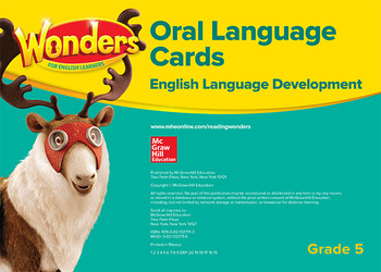 Wonders for English Learners G5 Oral Language Cards