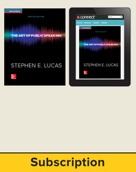 Lucas, The Art of Public Speaking © 2015, 12e, Standard Student Bundle (Student Edition with Connect Plus®), 6-year subscription
