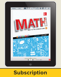 Glencoe Math, Course 1, eStudent Edition online, 6-year subscription