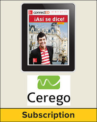 Asi se dice! Level 2, Student Embedded Add-On Cerego, 1-year subscription