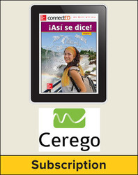 Asi se dice! Level 4, Student Embedded Add-On Cerego, 6-year subscription