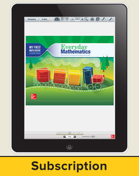 Everyday Mathematics 4, Grade K, All-Digital Student Material Set - 5 Year Subscription