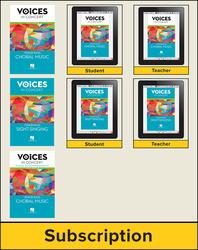 Hal Leonard Voices in Concert, Level 2 Tenor/Bass Hybrid Bundle, 6 Year