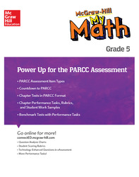 MH My Math, Grade 5, Power Up for PARCC Assessment