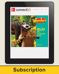 Wonders for English Learners Student Workspace, Grade 1, 6 Yr Subscription