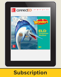 Wonders for English Learners Student Workspace, Grade 2, 6 Yr Subscription